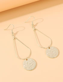 Fashion Gold Color Letter Round Alloy Earrings