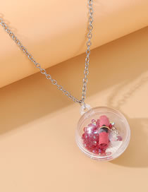 Fashion Red Shell Alloy Resin Round Sweater Chain