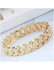 Fashion Gold Color Thick Chain Hollow Alloy Bracelet