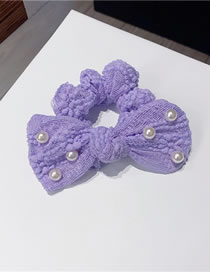 Fashion Bow Hair Tie Net Yarn Lace Bow Knot Pearl Knotted Hair Rope Hair Band Hair Clip