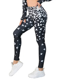 Fashion Pants Printed Hollow Yoga Suit With Pocket Leggings Bra Sports Suit