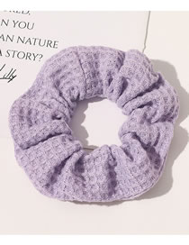 Fashion Pure Color Waffle-lavender Purple Flannel Waffle Fabric Large Intestine Ring Hair Rope