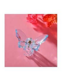 Fashion Resin Pure Color Butterfly Toothed Resin Gripper