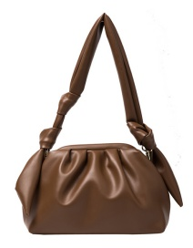 Fashion Pu Pleated Soft Leather Solid Color One-shoulder Armpit Bag