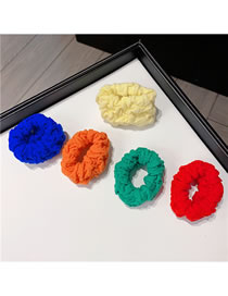 Fashion Mixed Color 5-piece Set Contrast Pleated Towel Hair Tie Set