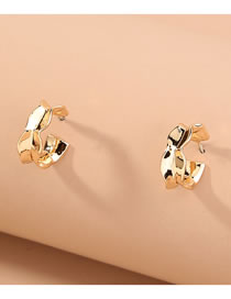 Fashion Gold Color Glossy Geometric Irregular Alloy Earrings