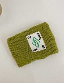 Fashion Avocado Green Wide-edged Wool Knitted Letter Headband