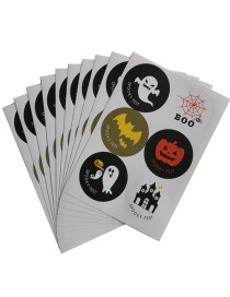 Fashion Diameter 3.7cm 10 Sheets/pack A Piece Of 6 Halloween Biscuit Bag Packing Box Sealing Sticker