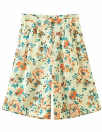 Fashion Colorful Flower Print Mid-length Short