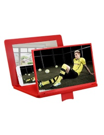Fashion Red 12 Inch Desktop Stand Phone Screen Magnifier