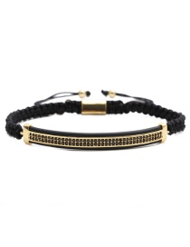 Fashion Gold Colorful Leather Strap 6mm Frosted Stone Crown Three-cut Round Leather Strip Beaded Bracelet