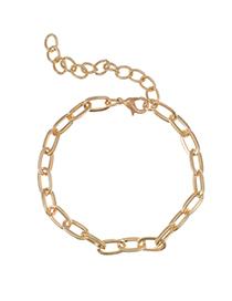 Fashion Golden Alloy Thin Chain Bracelet