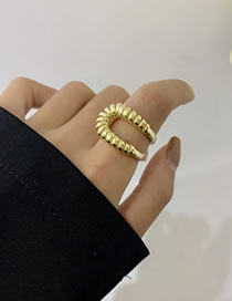 Fashion Gold Color Wrapping Line Alloy Hollow Ring