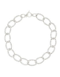 Fashion Silver Color Alloy Diamond Thick Chain Hollow Necklace