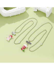 Fashion Christmas Snowman Socks Children Christmas Snowman Socks Resin Pendant Necklace Set