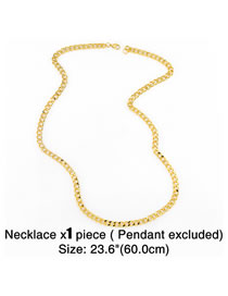 Fashion 60cm Thick Chain Alloy Hollow Necklace