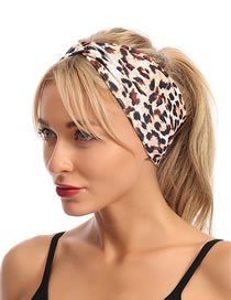 Fashion Leaves Button Bow Print Geometric Knotted Headband
