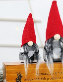 Fashion Small Pigtail Faceless Doll Christmas Faceless Doll Dolls Dolls Elderly Window Decorations