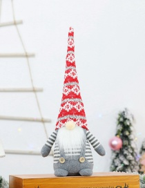 Fashion Sitting Faceless Doll With Red Hat Christmas Costume Faceless Old Man Doll Ornaments