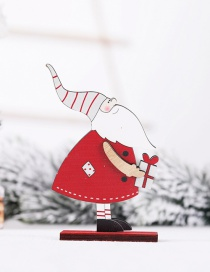 Fashion Grey Hat Assembly Christmas Wooden Assembled Doll Ornaments Childrens Gifts