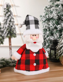 Fashion Tree Top Star For The Elderly Elderly Snowman Plaid Christmas Tree Hat Pendant