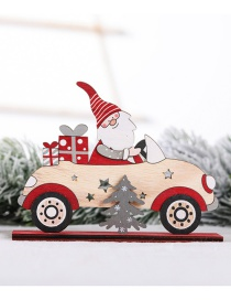 Fashion Wood Color Car Decoration Old Man Gift Package Small Tree Driving Christmas Wooden Ornaments