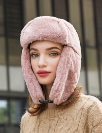 Fashion Gray Faux Fur And Velvet Warm Ear Protection Cap