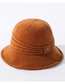 Fashion Caramel Pure Color Walking Knitted Wool Fisherman Hat