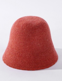 Fashion Orange Wool Fleece Solid Color Small Lace Fisherman Hat