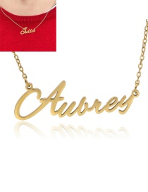 Fashion Aubrey-gold Stainless Steel Letter Hollow Necklace