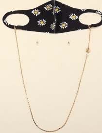 Fashion Shell Gold Rice Bead Woven Butterfly Geometric Contrast Alloy Glasses Chain