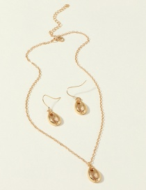 Fashion Shell Gold Pearl Shell Starfish Alloy Necklace Earrings