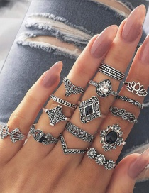 Fashion Silver Color Metal Cross Alloy Ring