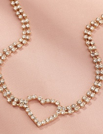 Fashion Gold Color Alphabet Butterfly Alloy Diamond Multilayer Necklace