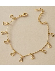 Fashion Golden Heart Alloy Hollow Anklet