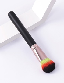 Fashion Single-black Coffee-pressure Tube-round Head Color Makeup Brush With Wooden Handle And Aluminum Tube Nylon Hair