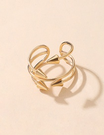 Fashion Gold Color Coloren Arrow Open Alloy Multilayer Hollow Ring