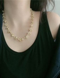 Fashion Twist Chain Metal Rope Combined Gold Hollow Necklace
