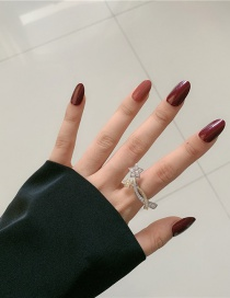 Fashion Small Board Star (open Design) Five-pointed Star Diamond And Color Matching Open Ring