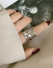 Fashion The Main Picture Is About 12g Wide Version Of Wave Metal Geometric Ring