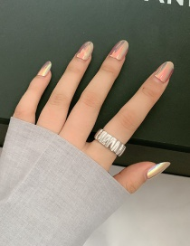 Fashion Silver Color (us Code 6) Wide Face Irregular Tire Art Ring