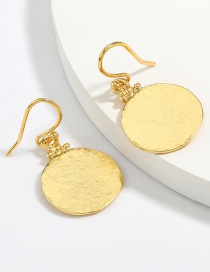 Fashion Gold Color Coloren Alloy Round Metal Earrings