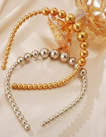 Fashion Gold Color Round Bead Bead Alloy Headband