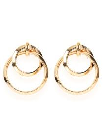 Fashion Lake Green + Black Alloy Diamond Eye Tassel Earrings