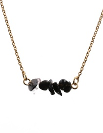 Fashion Transparent Stone Stone Hanging Type Gold-plated Necklace