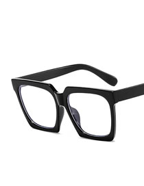 Fashion Bright Black And White Large Frame Square Resin Gradient Sunglasses