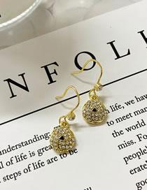 Fashion Gold Color Geometric Braided Diamond Alloy Earrings