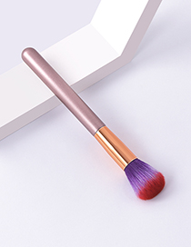 Fashion Single Fuchsia Color Makeup Brush With Wooden Handle And Aluminum Tube