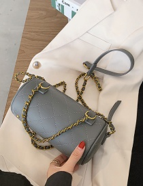 Fashion Gray Chain Diamond Shoulder Crossbody Bag