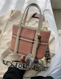 Fashion White Checked Shoulder Crossbody Bag With Wide Straps